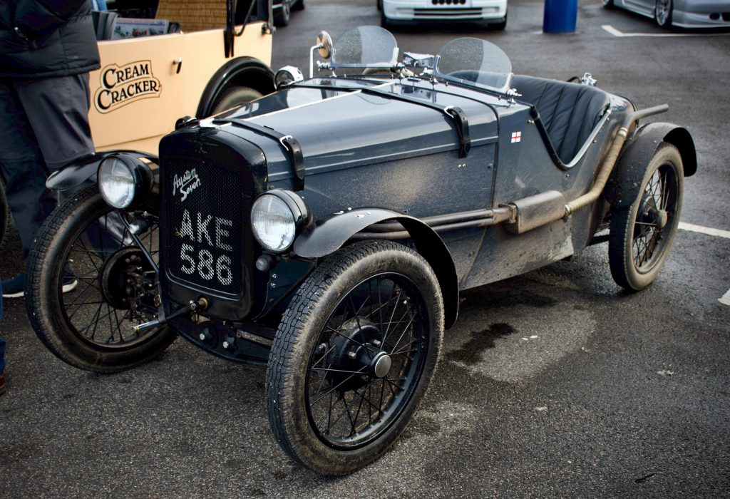 Cars and coffee - this beautiful Austin Seven often visits Re:Fuel